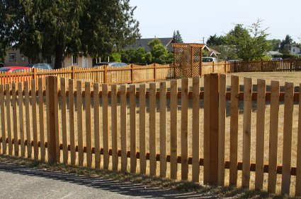 wood picket privacy fence