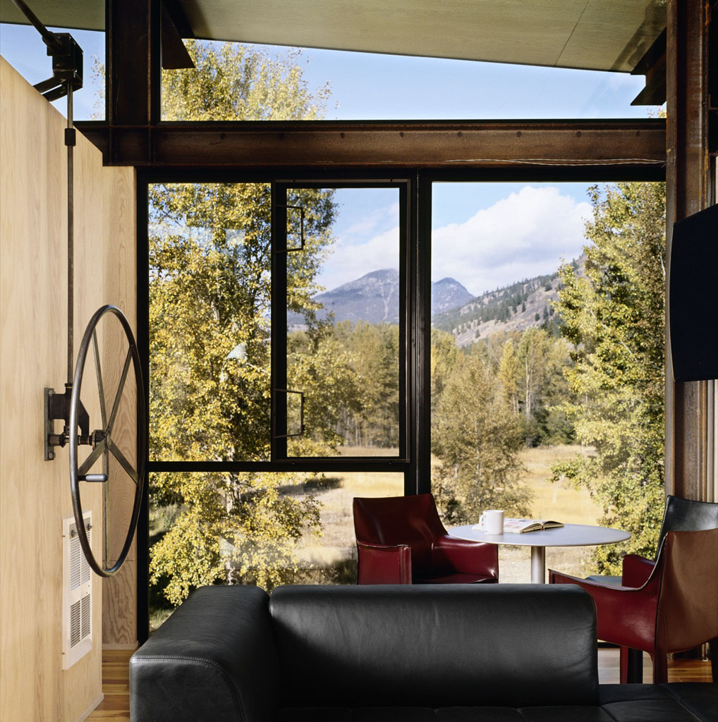 Hand wheel of the Delta Shelter by Olson Kundig Architects