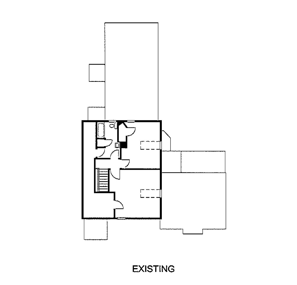 third floor existing credit estes twombly - Images House Plans 1890 S