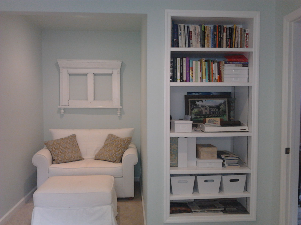 Home Office book shelving and seating