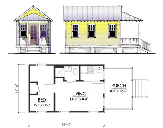 5 small house rendering credit cusato cottages - Small House Living