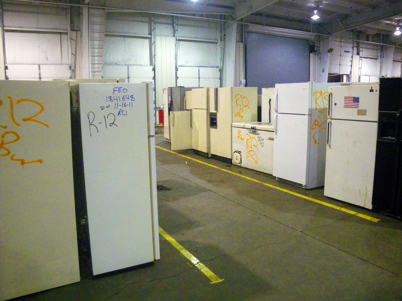 Refrigerators to be recycled