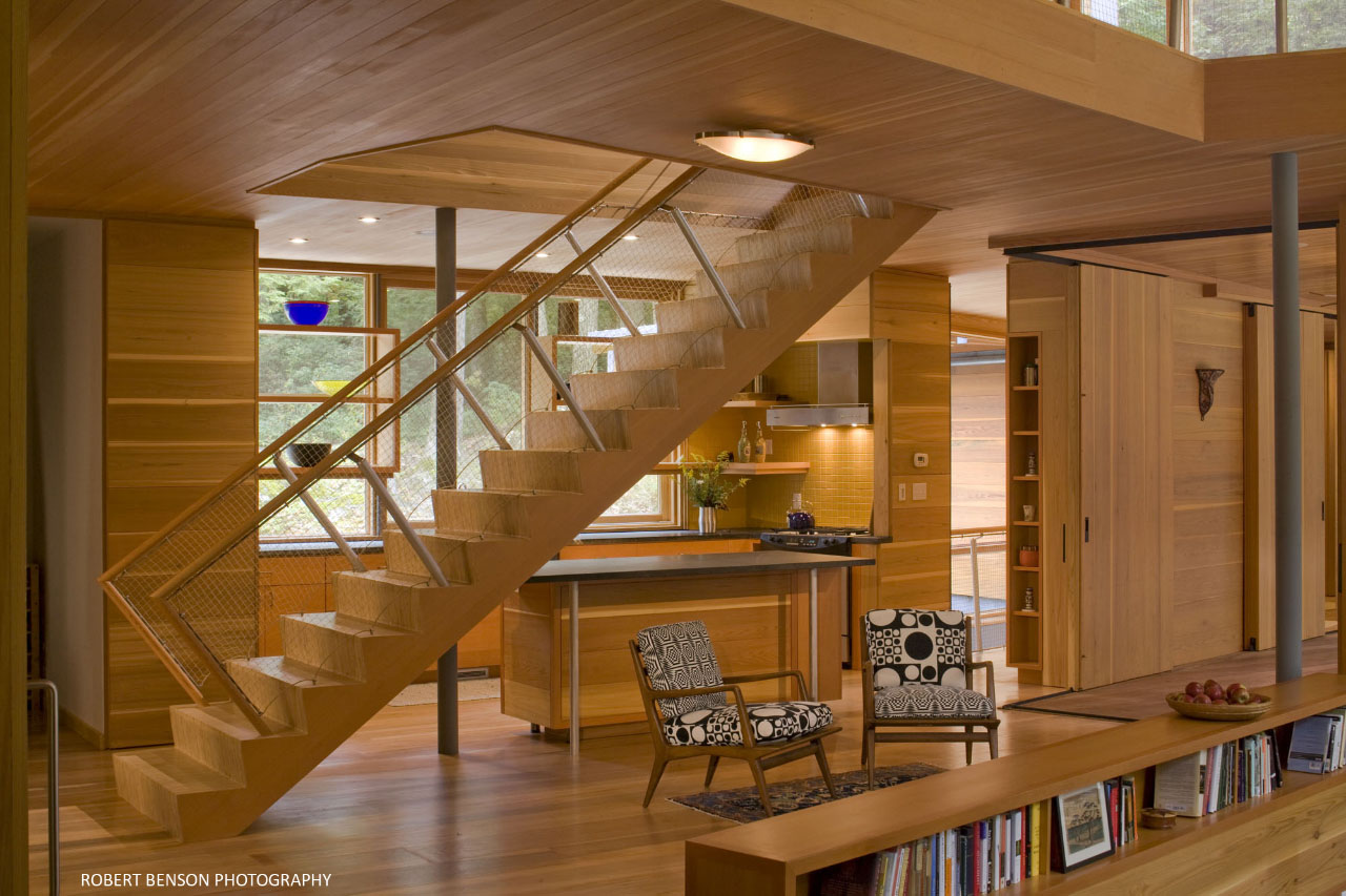 Stairway inside the Kent House by Gray Organschi Architecture