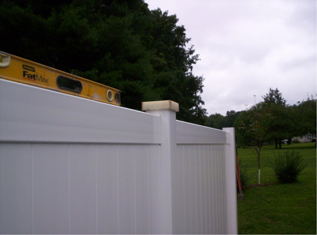 Installation of Vinyl Fence | Image courtesy of Gerry Rogan
