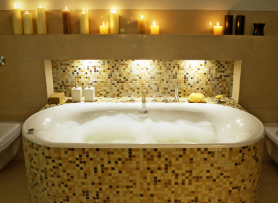 mosaic tile bathtub