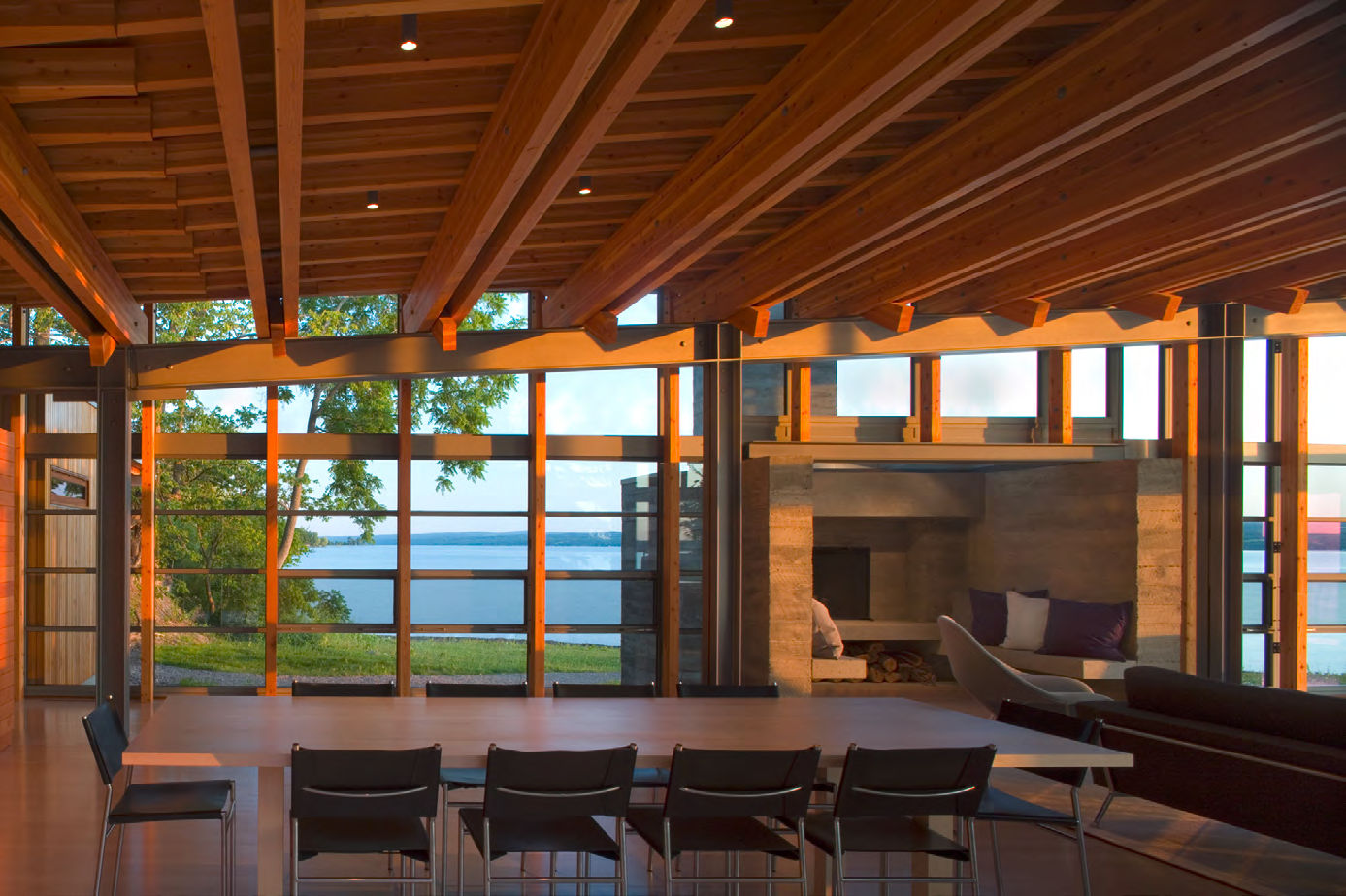 Interior of the Combs Point Residence by Bohlin Cywinski Jackson