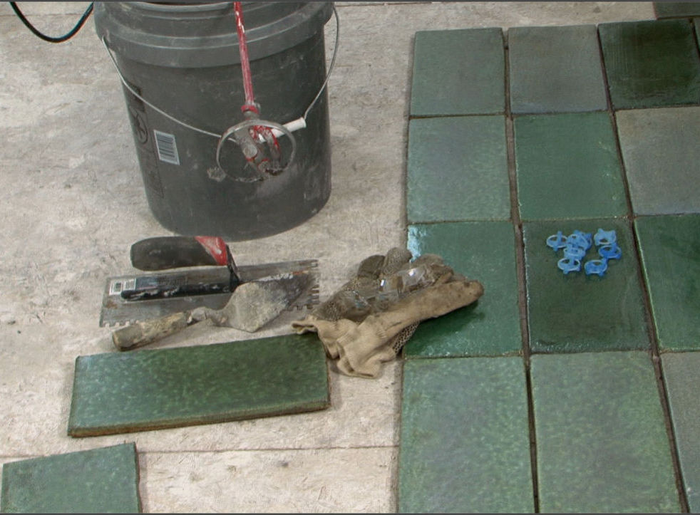How to install a ceramic tile floor buildipedia for Ceramic floor installation
