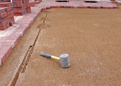 Gravel Base Before Installing The Dry Laid Paver Patio ...