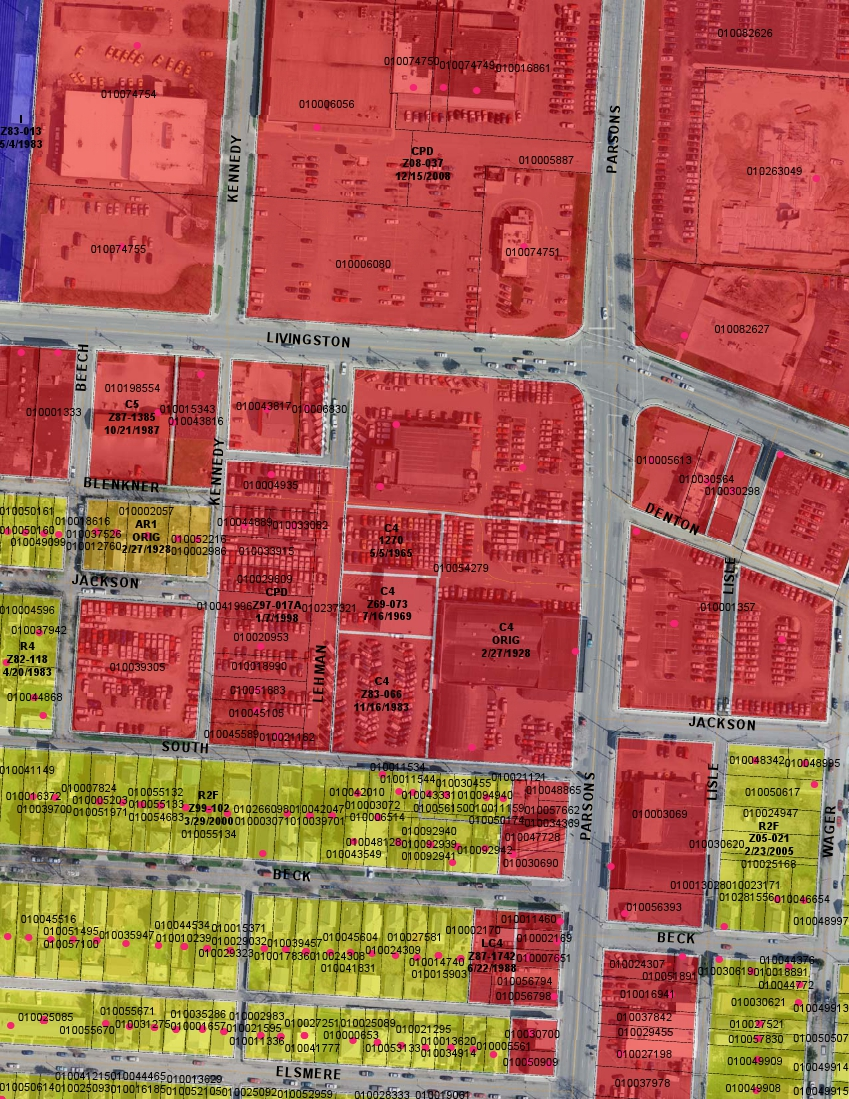 residential zoning map sample