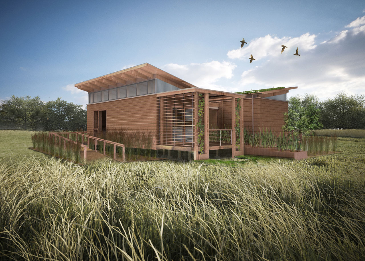 2011 Solar Decathlon University of Maryland's WaterShed rendering