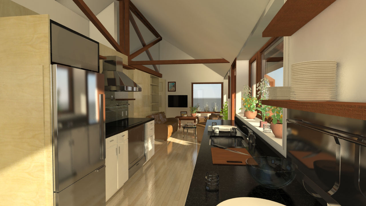 Solar Decathlon Team University of Massachusetts 4D Home interior