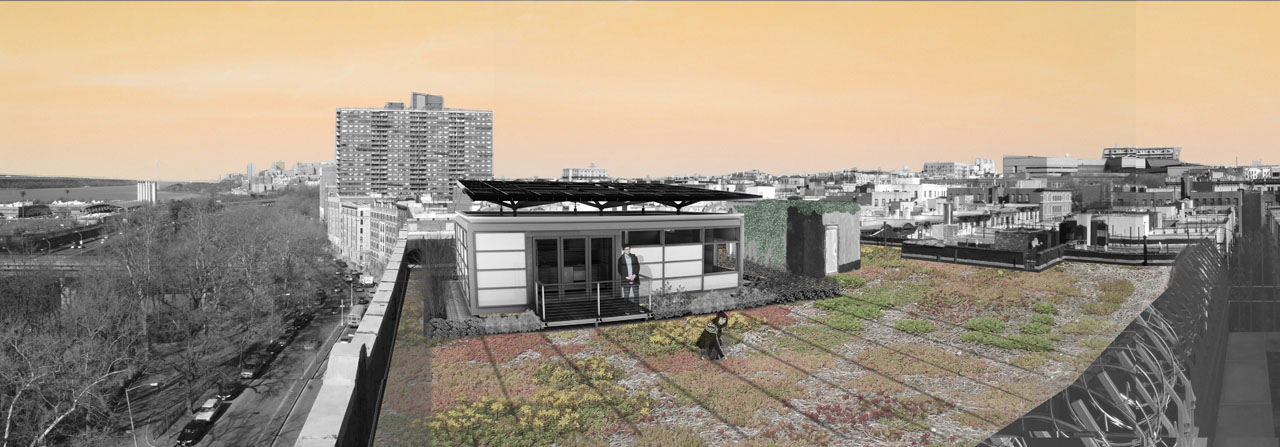 Solar Decathlon 2011 Team New York's Solar Roof Pod rendering