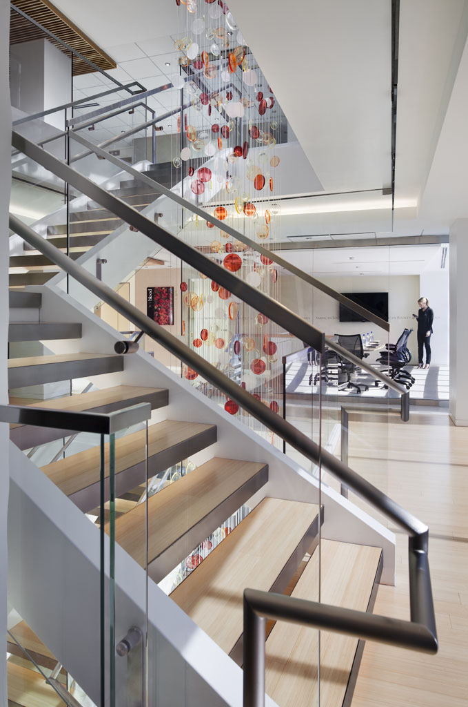 American Society of Hematology headquarters interior stairs by RTKL Architects