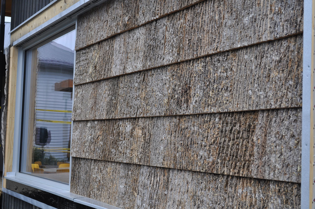 Bark shingles garden pinterest for Bark house siding