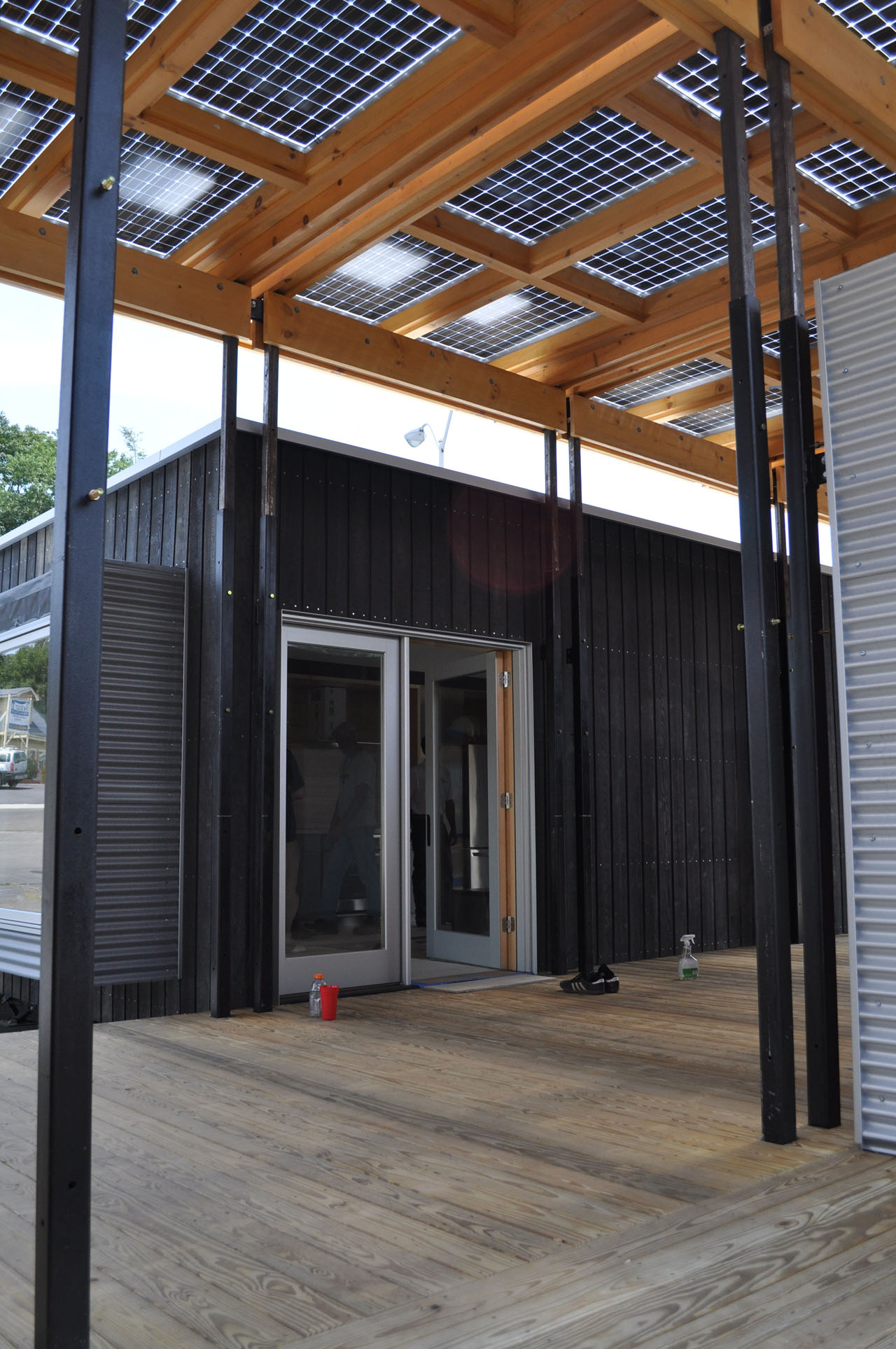The Solar Canopy of the Solar Homestead by Appalachian State University for the Solar Decathlon