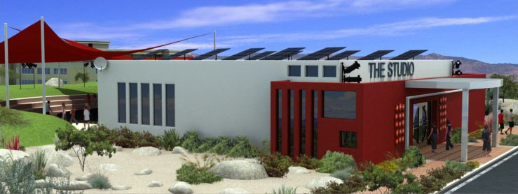 LEED Platinum designed Studio School exterior rendering