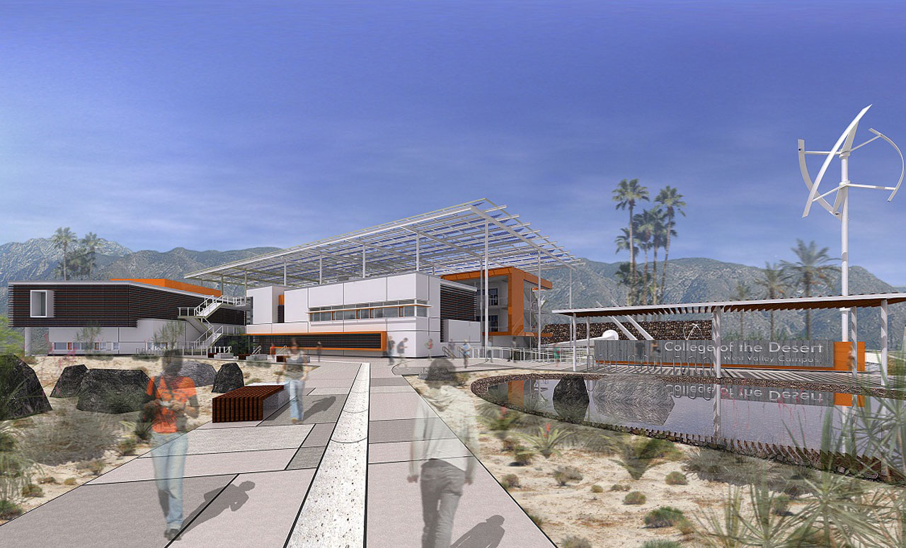 College of the Desert exterior Rendering by by HGA Architects and Engineers