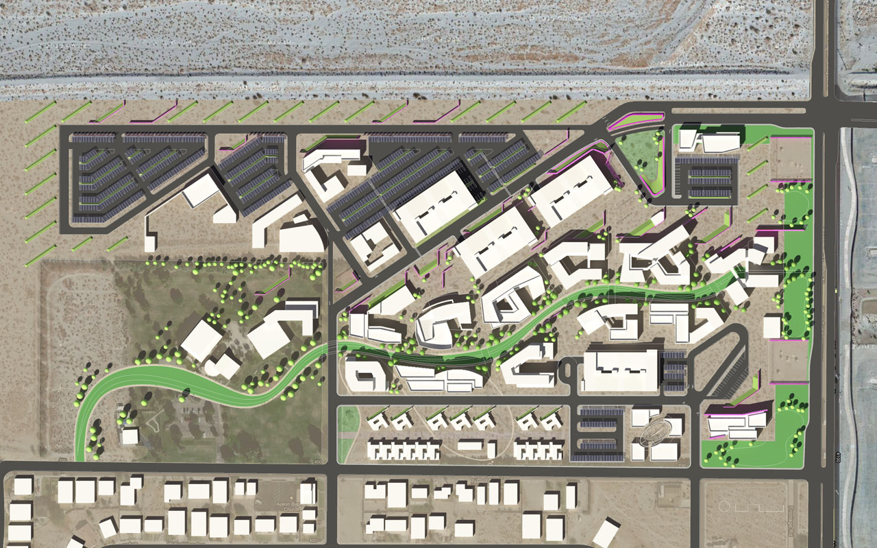 College of the Desert Site Plan by HGA Architects and Engineers