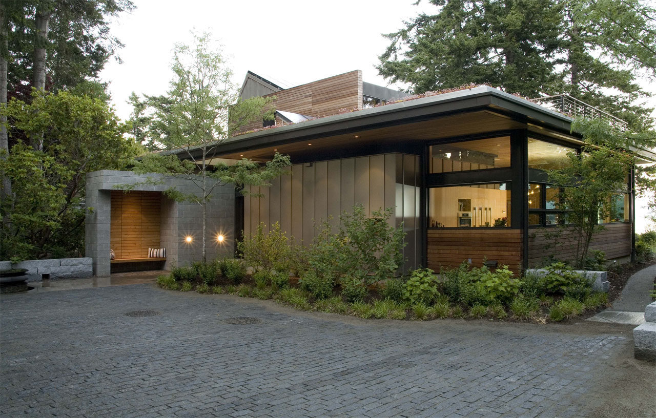 Green house of the month the ellis residence by coates for Green modern home designs