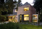 Ellis Residence Exterior At Dusk Credit Roger Turk Northlight Photography