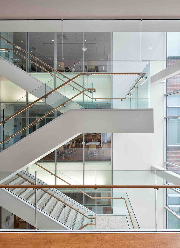 Interior stairs of the Clinical and Translational Science Building by Francis Cauffman