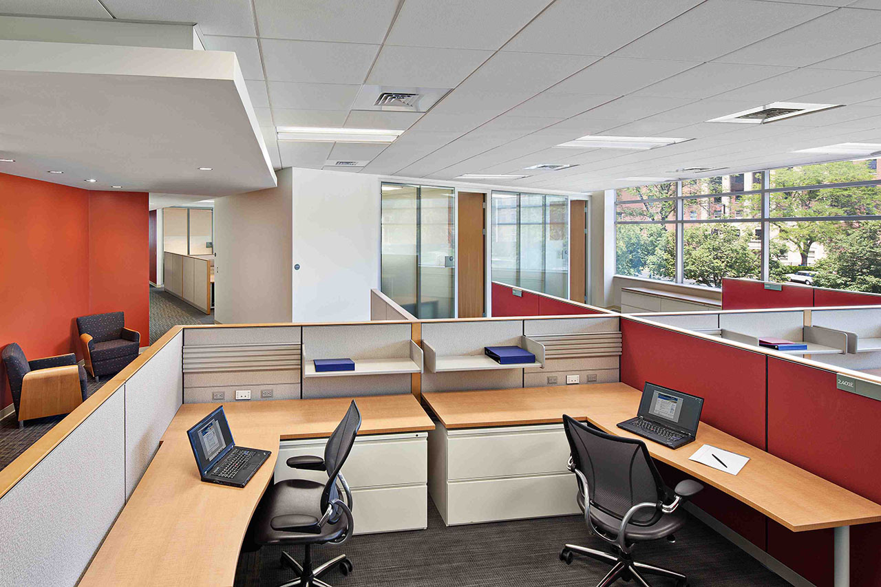 Interior office space of the Clinical and Translational Science Building by Francis Cauffman