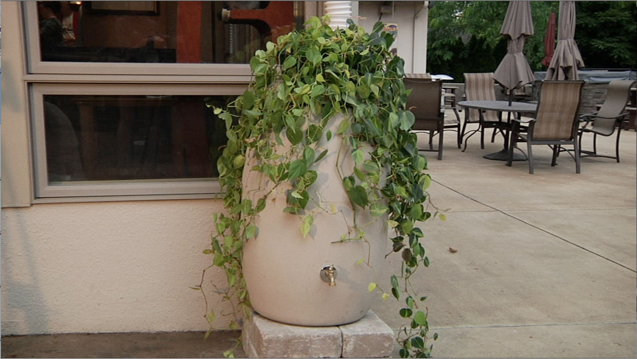 Upcycled Rain Barrel