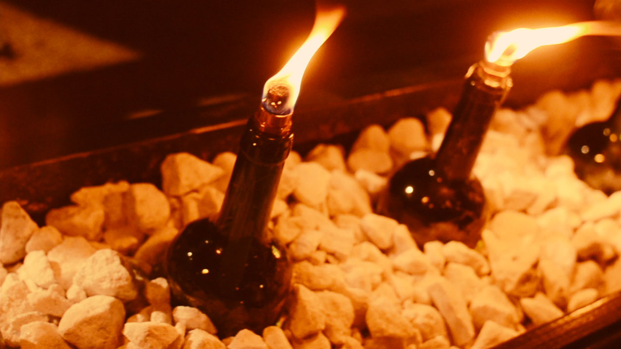 glass bottle lighting pendant light finished wine bottle fire feature diy recycled glass outdoor lighting buildipedia