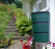 Rain Barrel Connected To Downspout - Rick Atkinson