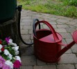 Watering Can Is Filled From Rain Barrel - Rick Atkinson