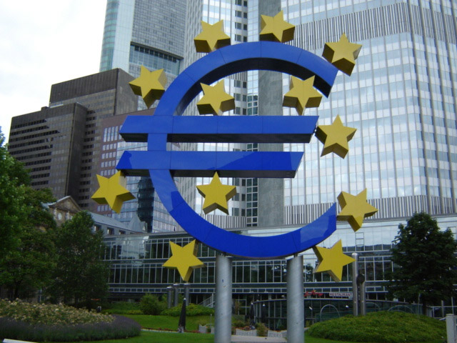 The EURO in front of the European Central Bank in Frankfurt
