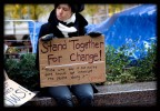 Young Woman With Stand Together Sign - CC BY SA 3.0 - By Debra M