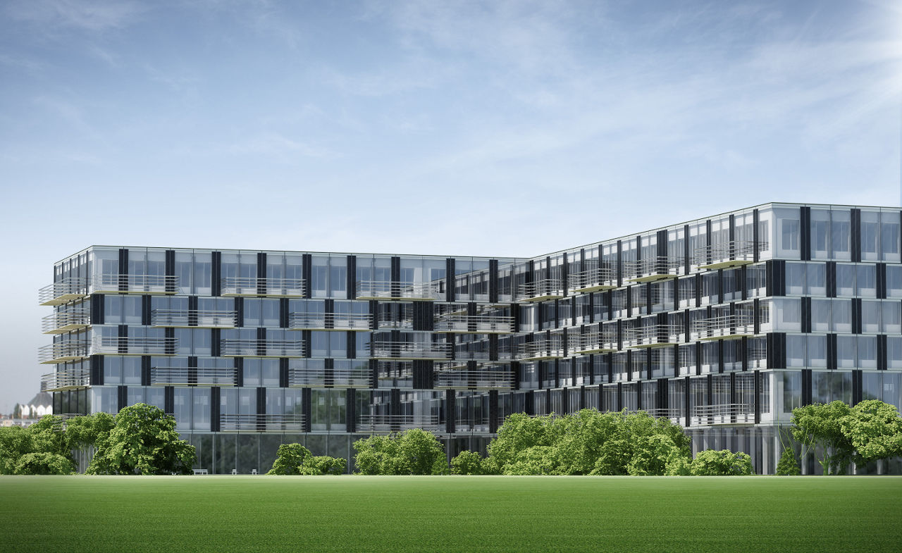 Exterior rendering of the LifeCycle Tower in Dornbirn, Austria by Creative Renewable Energy and Efficiency Group