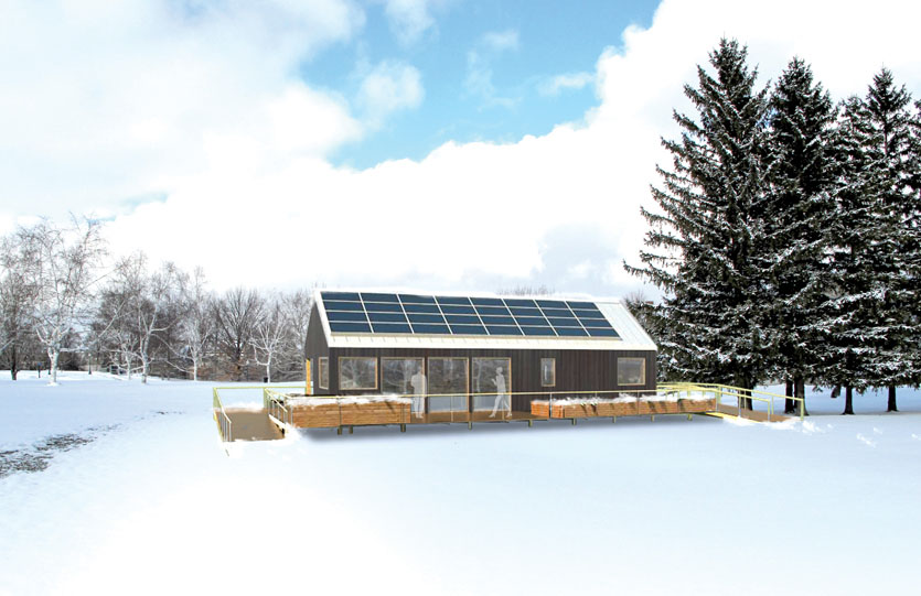 2011 Solar Decathlon Middlebury College Self-Reliance exterior Rendering
