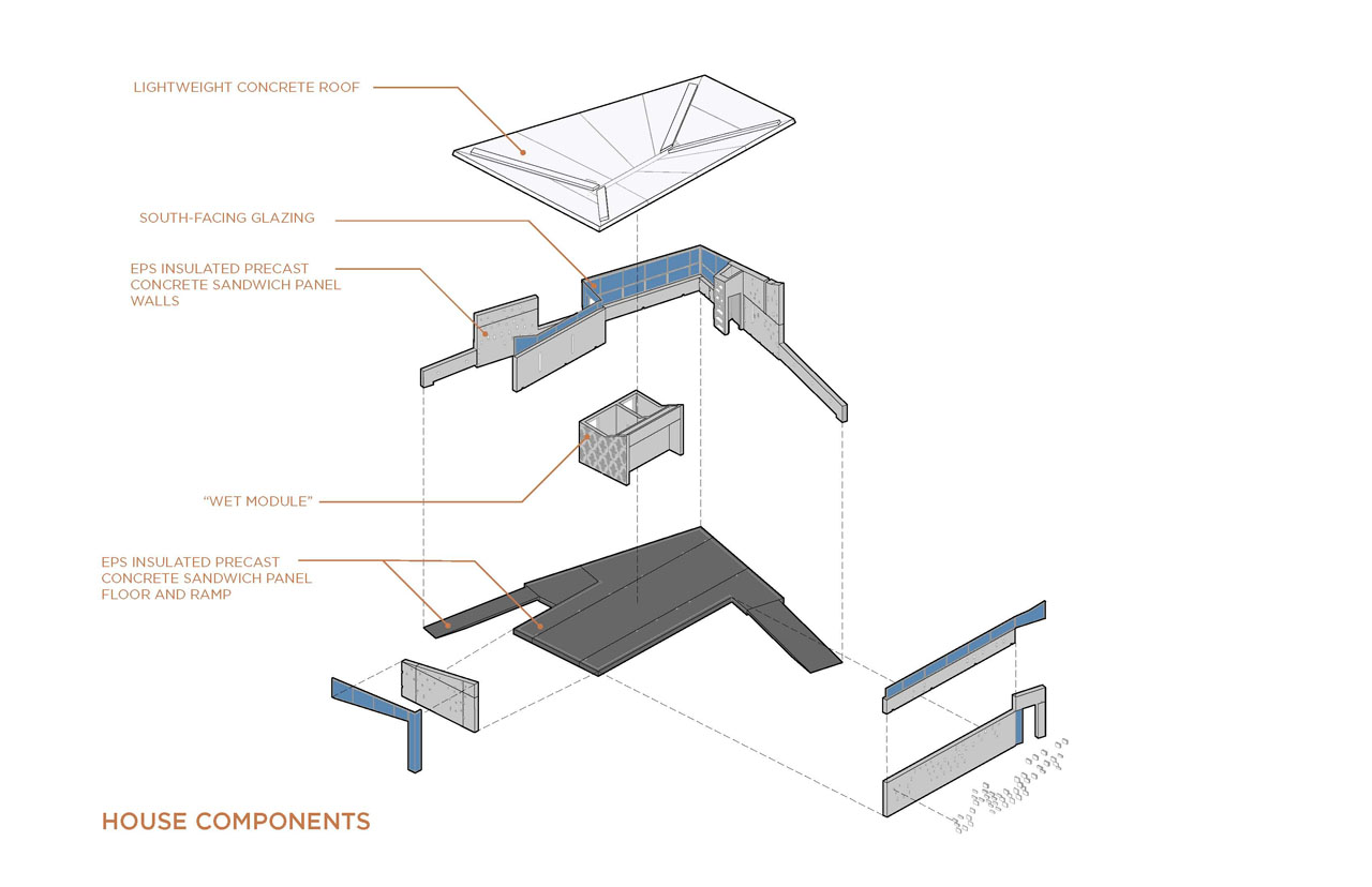 Solar Decathlon Team New Jersey eNJoy House component drawing