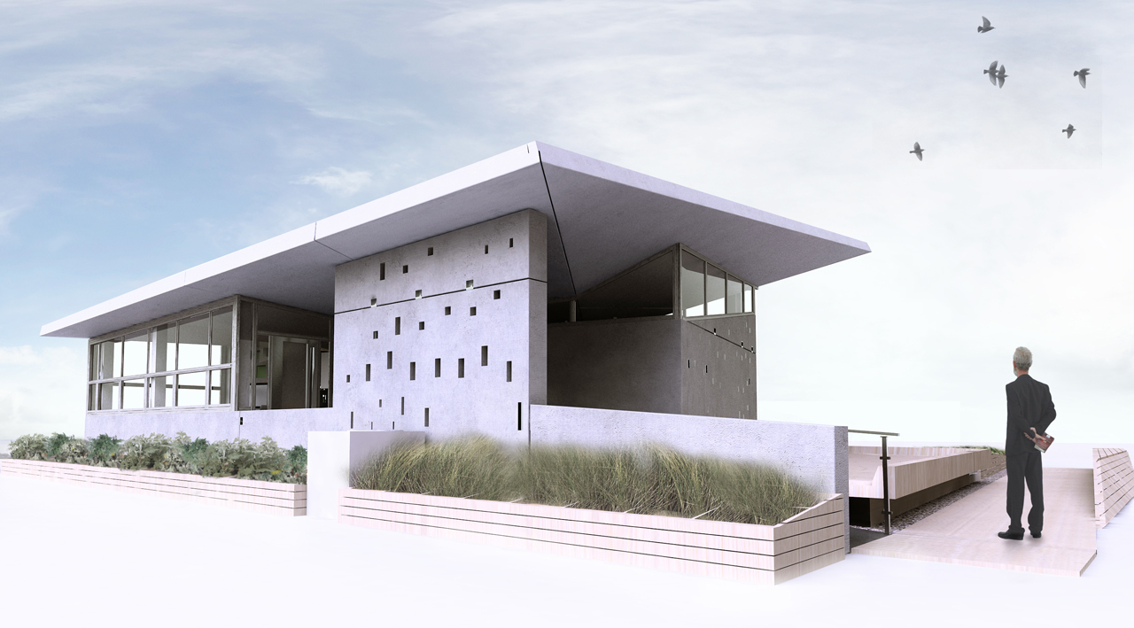 Solar Decathlon Team New Jersey eNJoy House exterior rendering