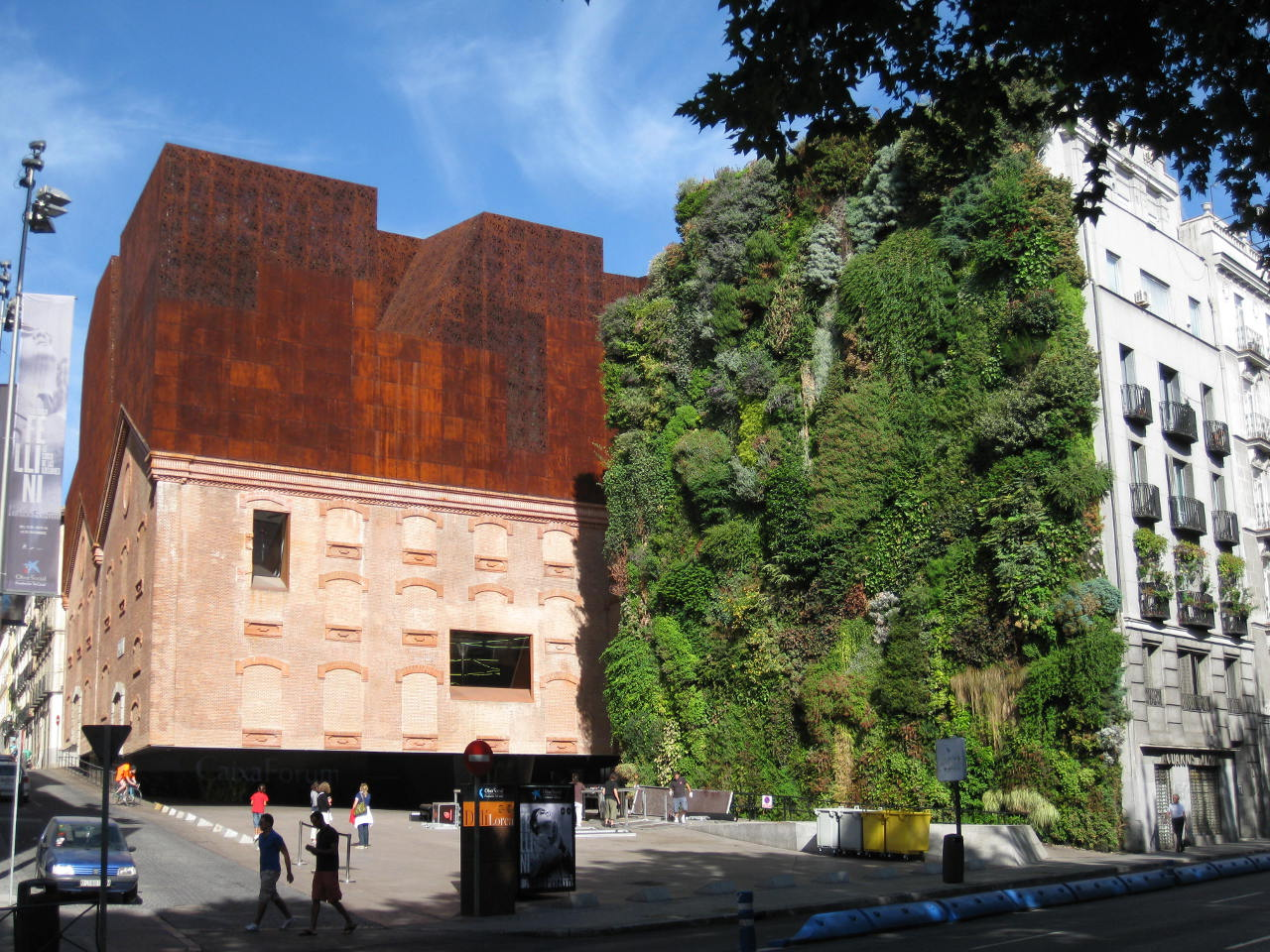Patrick Blanc's Vertical Garden and Caixa Forum in Madrid, Spain