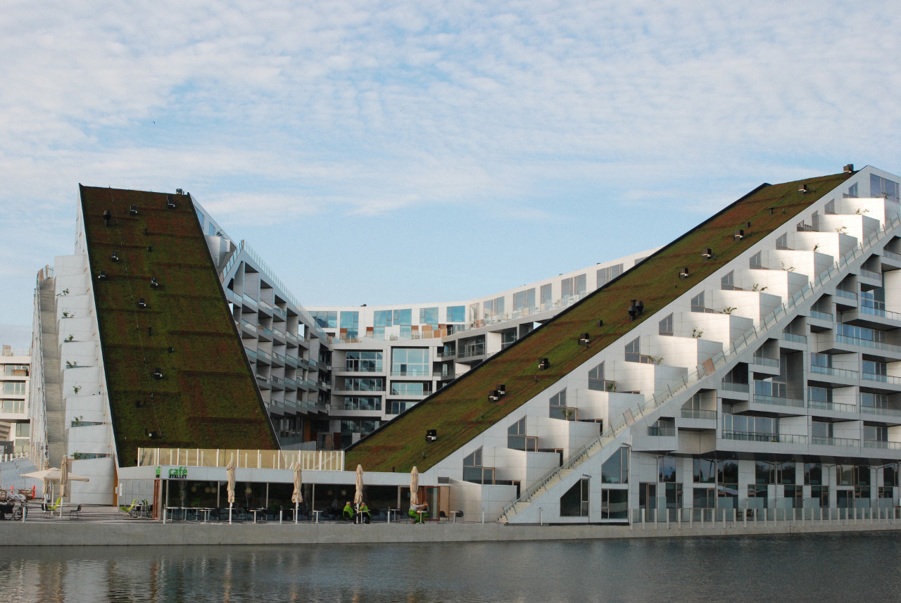 The green roof of 8 House by Bjarke Ingels Group BIG