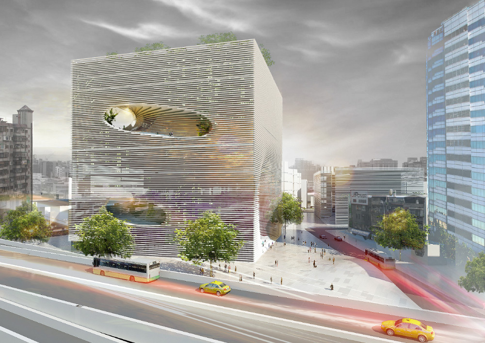 Rendering of the TED Cube by Bjarke Ingels Group