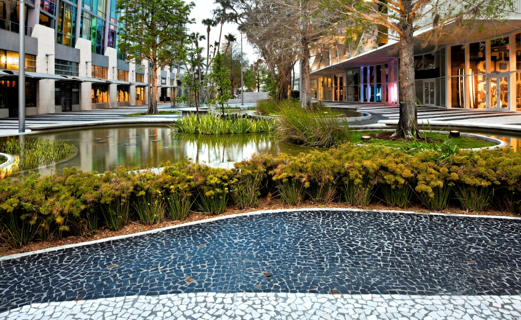 1100 Lincoln Road redevelopment  by landscape design drawing