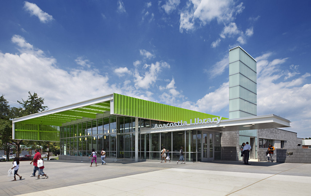 Anacostia library by freelon group buildipedia for House exterior design photo library