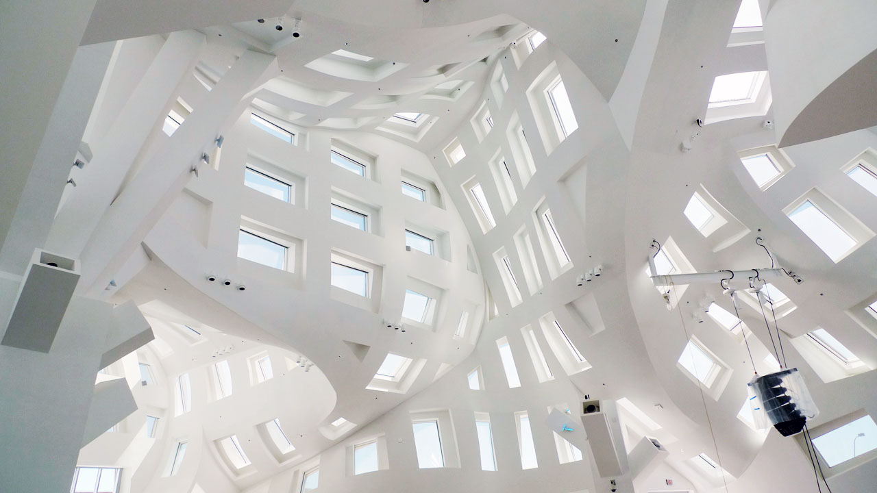 Interior Detail of Frank Gehry's Cleveland Clinic Lou Ruvo Center for Brain Health