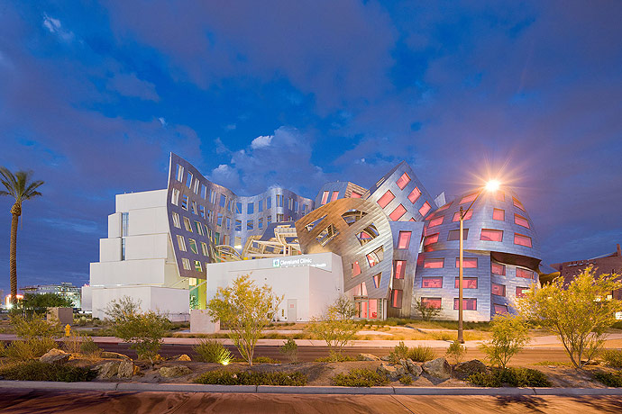 Exterior of Frank Gehry's Cleveland Clinic Lou Ruvo Center for Brain Health