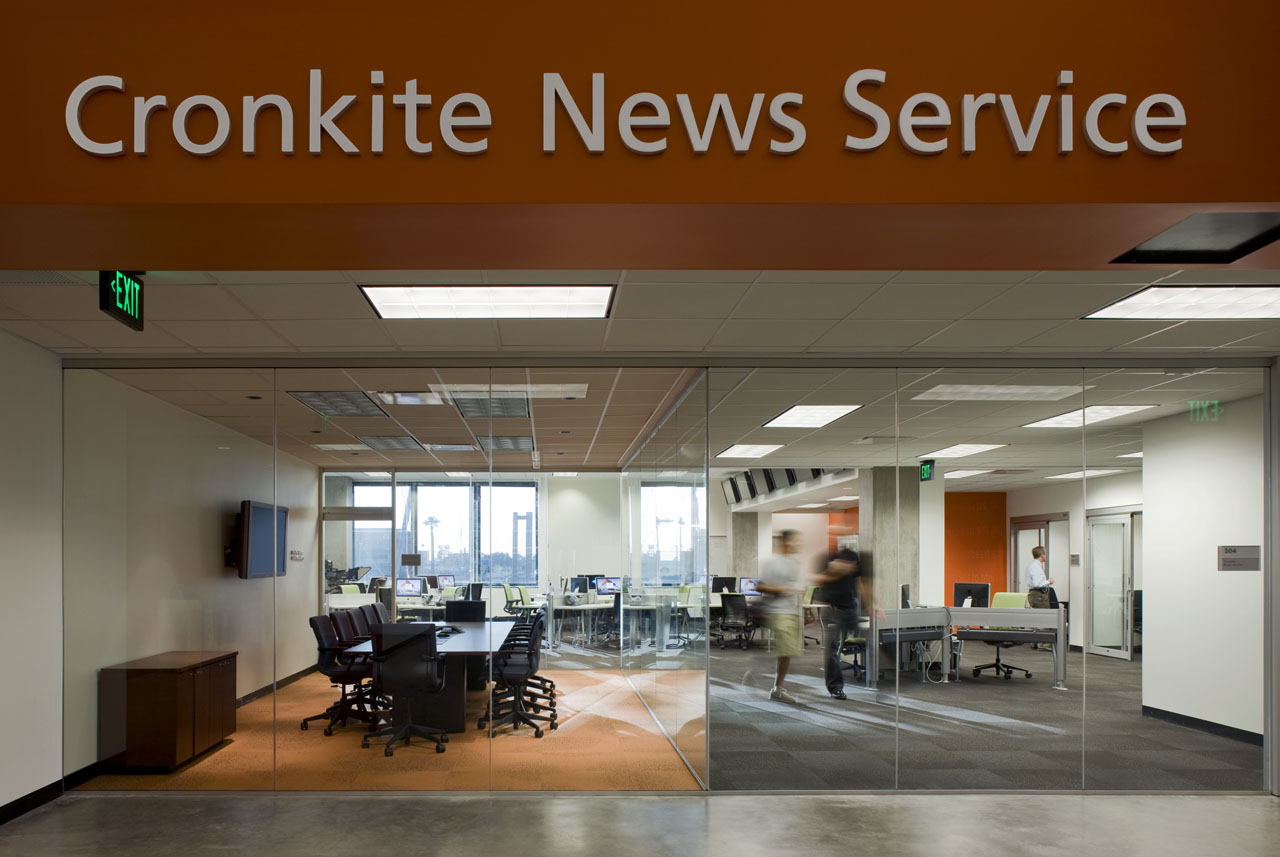 Cronkite News Service Inside The Arizona State University Walter School Of Journalism By Ehrlich Architects