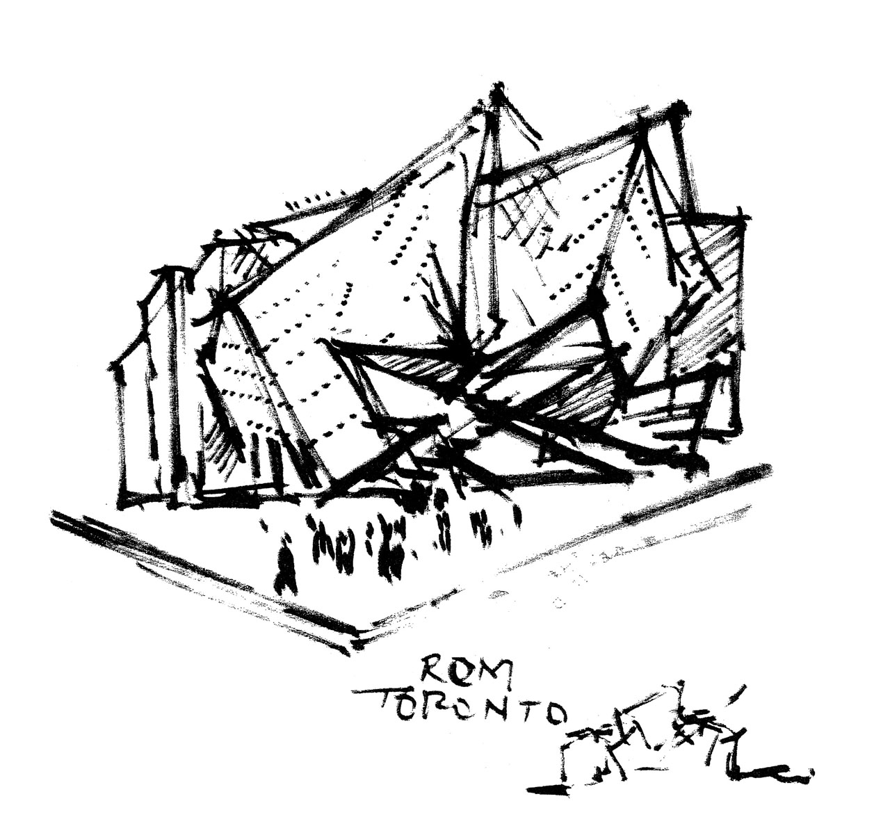 Royal Ontario Museum Napkin Sketch