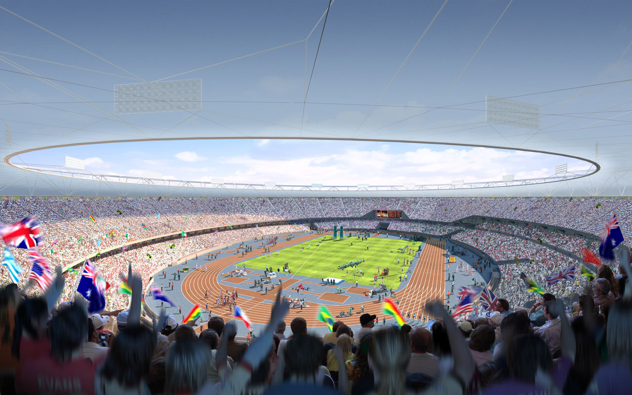 London's Olympic Stadium for the 2012 Olympic Games by Populous