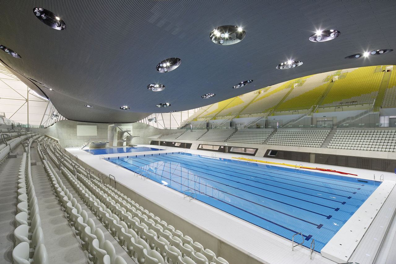 london 2012 aquatics centre by zaha hadid credit hufton crow