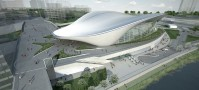 London 2012: Aquatics Centre by Zaha Hadid Renderings | credit: Zaha Hadid