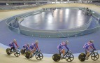 Velodrome By Hopkins Cyclists In Line | Credit - Dave Poultney