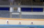 Velodrome By Hopkins Cyclists With Stands | Credit - Dave Poultney
